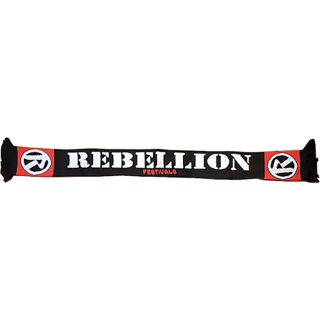 Rebellion Logo Black Scarf
