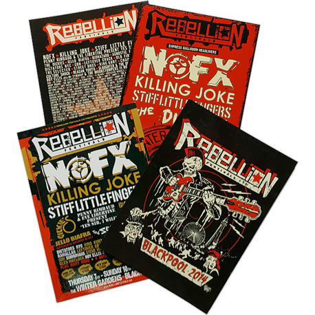 Rebellion 2014 Postcard Pack (4 designs)