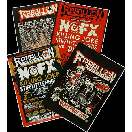 Rebellion 2014 Postcard Pack (4 designs)