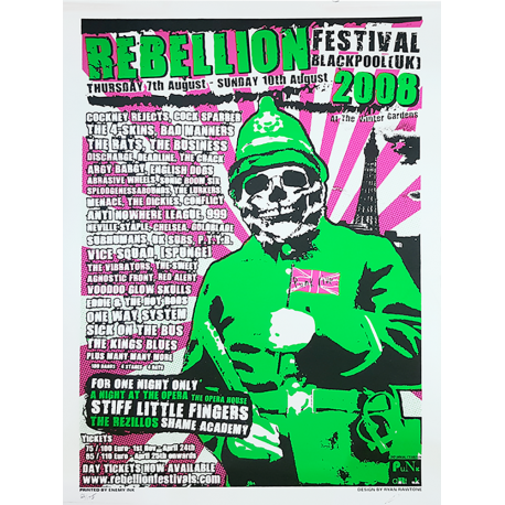 Rebellion 2008 Screen-printed Poster