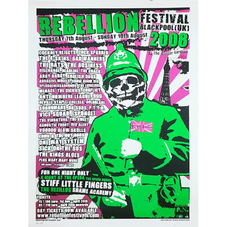 Rebellion 2008 Screen-printed Poster