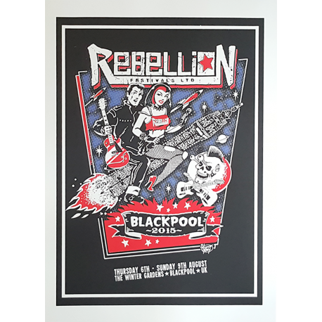 Rebellion 2015 Screen-printed Poster