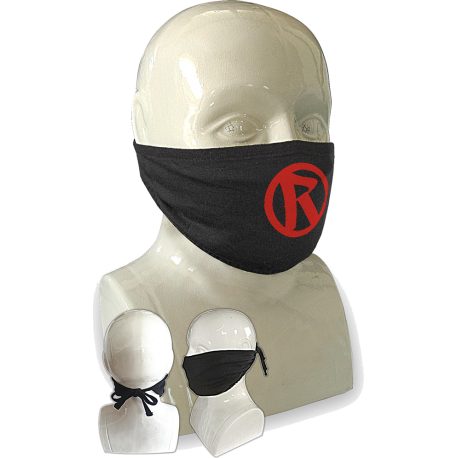Rebellion 2020 Red Logo Tie Back Face Mask