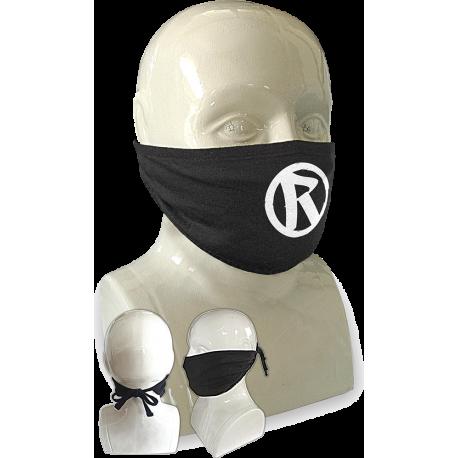Rebellion 2020 White Logo Tie Back Face Mask